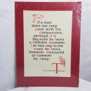 Thoreau Quote Vintage Art Print Different Drummer